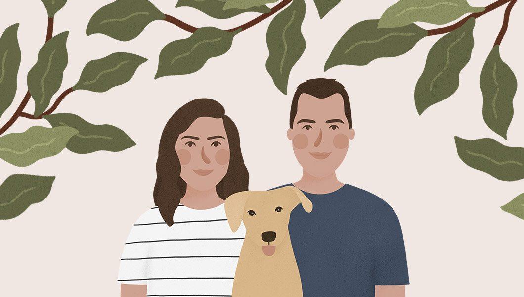 Desenho De Casal De Namorados Lebrii Studio